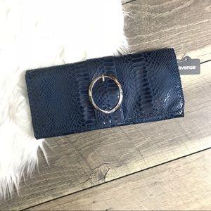 New Python skin clutch wallet